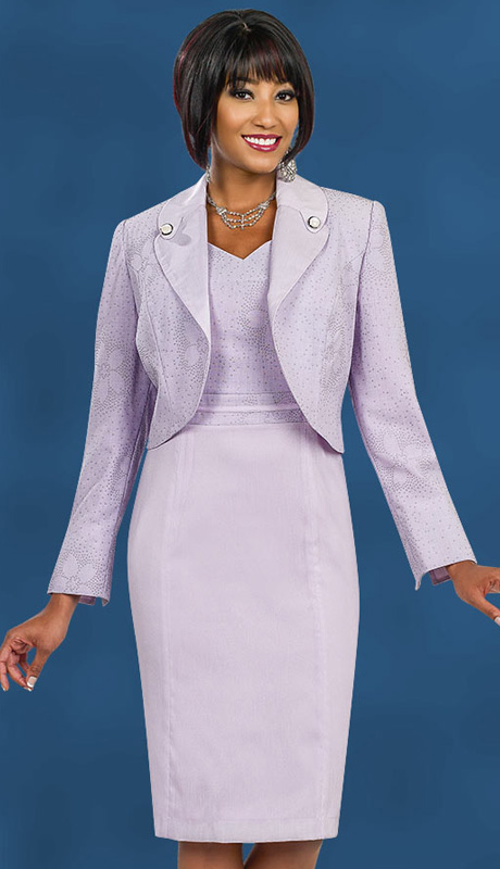 Ben Marc Executive 11549 ( 2pc Ladies Church And Career Suit With Cherry Blossom Flower Pattern And Pearl Button Details On Jacket Collar )