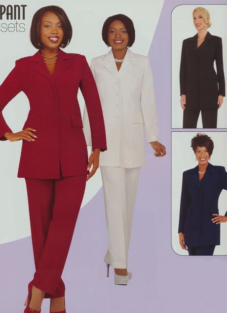 BMG10496-CA-CO ( 2pc Ben Marc Usher Pant Suit )