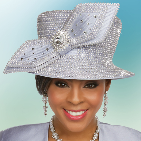 Ben Marc 48234-PL ( Ladies Rhinestone Adorned Church Hat )