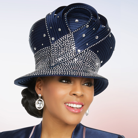 Ben Marc 48241-NA ( Satin Braided Fabric Embellished Church Hat )