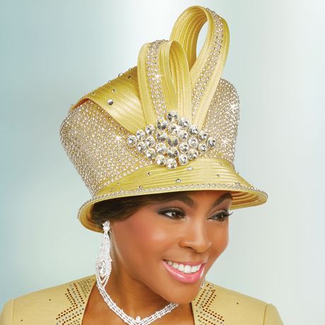 Ben Marc 48240-BA ( Ladies Rhinestone Embellished Church Hat )