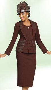 Ben Marc 47966  ( 2pc Exclusive Knit Designer Church Suit With Wide Lapel Collar )