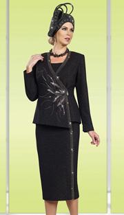 Ben Marc 48004 ( 3pc Exclusive Knit Women Suit For Church With Asymmetric Jacket)