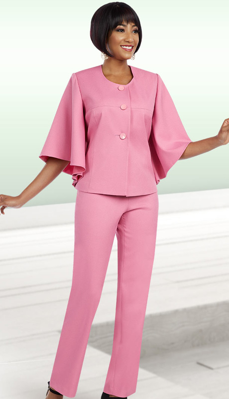 Ben Marc Executive 11610 ( 2pc Ladies Career Pant Suit With A Butterfly Sleeve Jacket And Button Front )