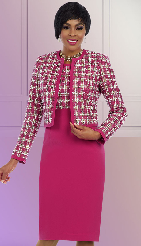 Ben Marc Executive 11618 ( 2pc Womens Church And Career Jacket And Dress With Soft Weave Pattern )