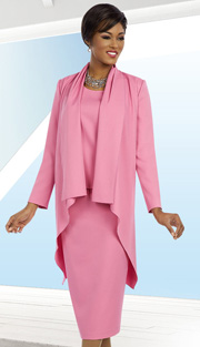 Ben Marc Executive 11626 ( 3pc Ladies Church And Career Suit With Drape Jacket, Cami And Skirt )