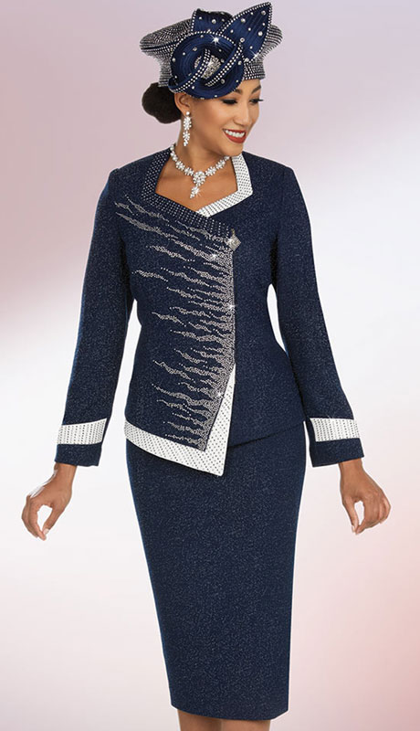 Ben Marc 48204-NA ( 2pc Exclusive Knit Womans Sunday Suit )