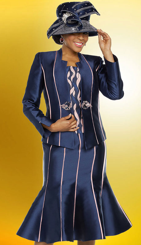 Ben Marc 48224-NA ( 3pc Exclusive Silk Ladies Suit For Sunday )