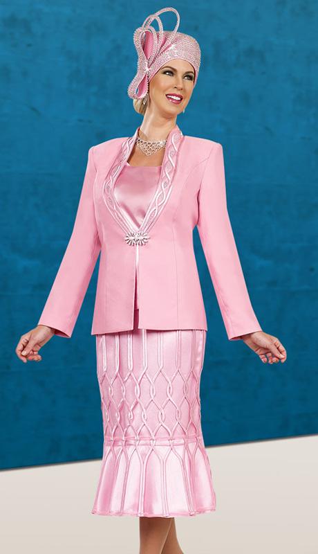 BenMarc 48014 ( 3pc Exclusive Satin Lady Sunday Suit )