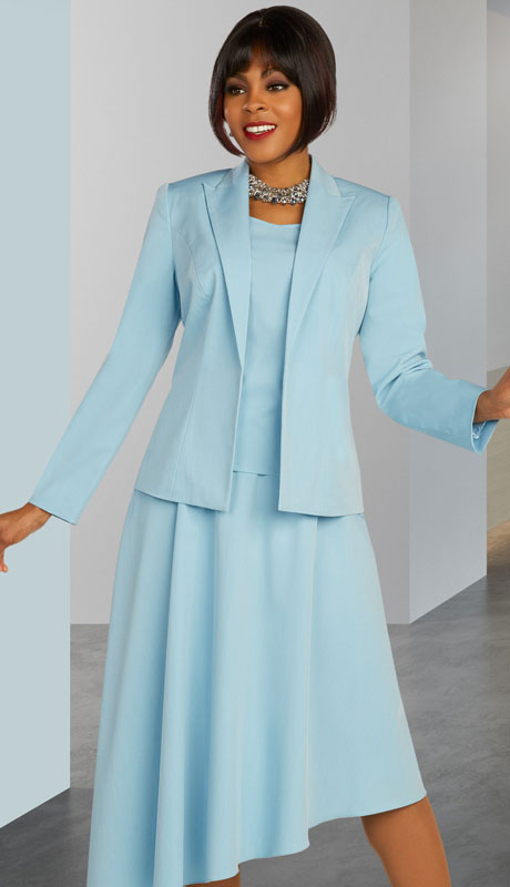 Ben Marc Executive 11891-FB ( 3pc Womens Church And Career Pant Suit With Asymmetrical Skirt )