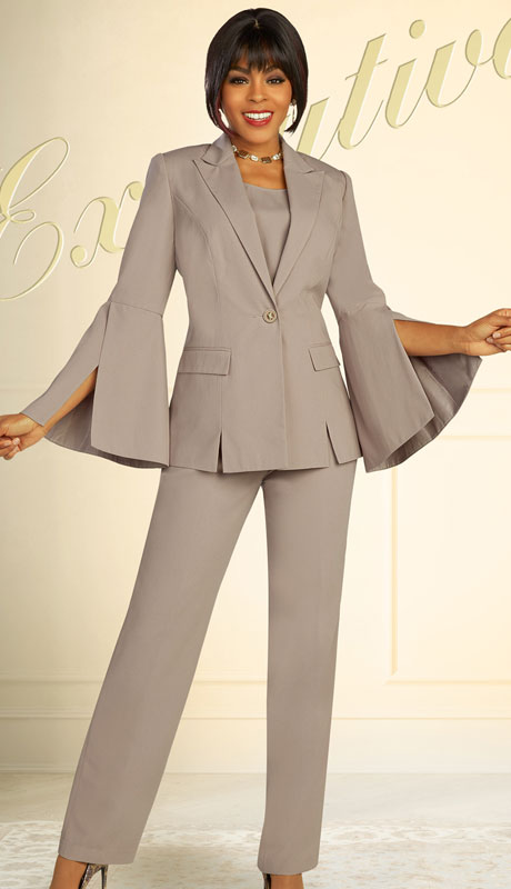 Ben Marc Executive 11884-FT ( 3pc Womens Church And Career Pant Suit With Flared Sleeves )