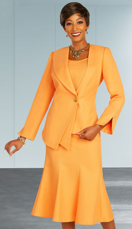 Ben Marc Executive 11877-TA ( 3pc Womens Church And Career Skirt Suit With Asymmetrical Jacket )