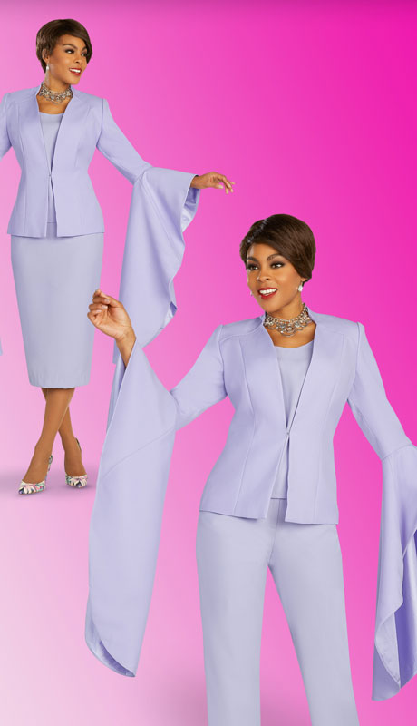 Ben Marc Executive 11898-LI ( 4pc Womens Church And Career Wardrober With Showpiece Bell Sleeves )