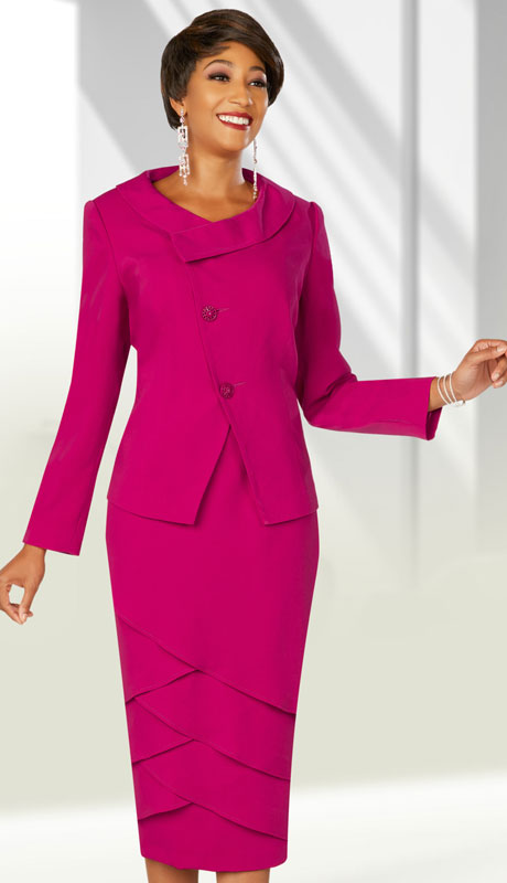 Ben Marc Executive 11859-FU ( 2pc Womens Church And Career Skirt Suit )
