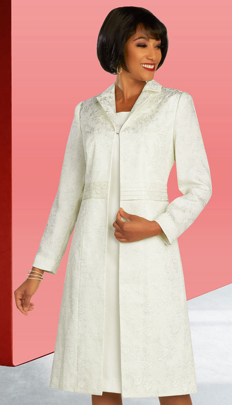 Ben Marc Executive 11854-OW ( 2pc Womens Church And Career Dress With Duster Jacket )