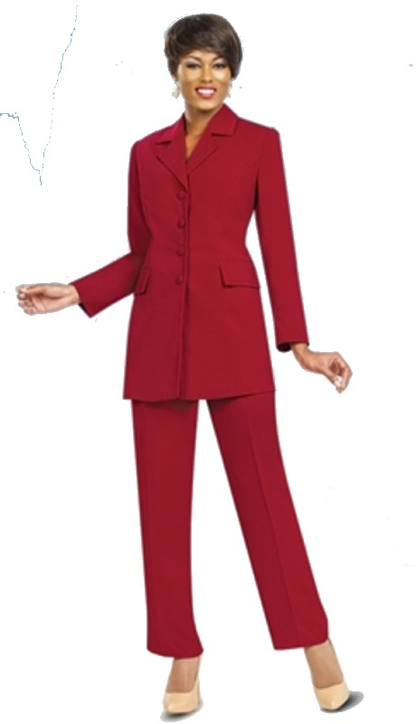 Ben Marc Executive 10496 ( 2pc 4 Button Jacket Pant Suit )