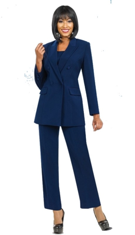 Ben Marc Executive 10498 ( 3pc Double breasted Jacket and Pant Suit )