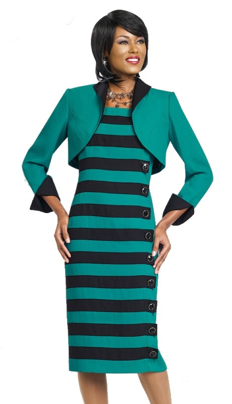 Ben Marc Executive 11446 ( 2pc Womens Stripe Jacket Dress )