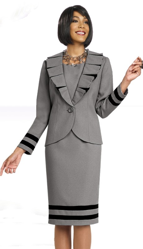 Ben Marc Executive 11450 ( 2pc Pleated Lape Jacket Dress )