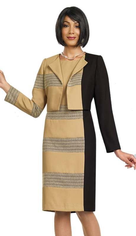 Ben Marc Executive 11457 ( 2pc Color Block Jacket Dress )