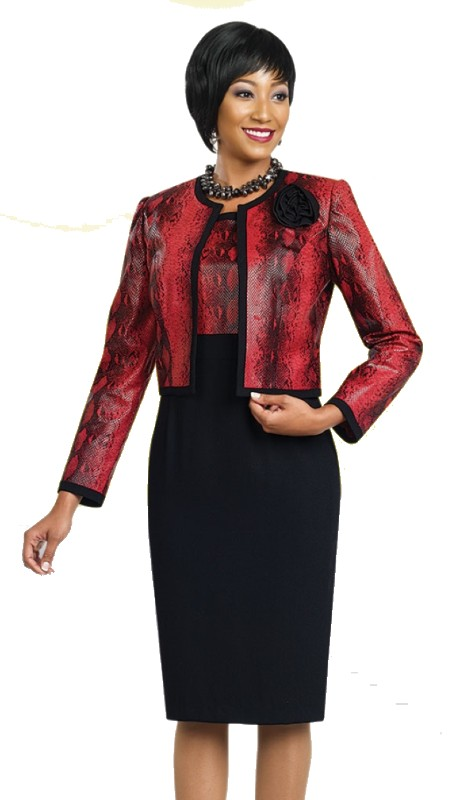 Ben Marc Executive 11460 ( 2pc Faux Snake Skin  Jacket Dress )