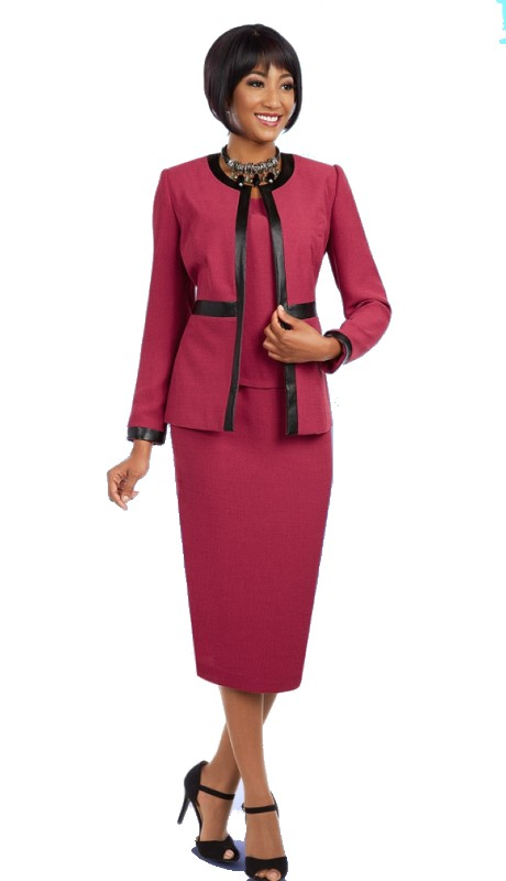 Ben Marc Executive 11588 ( 3pc Ladies Church And Career Suit With Jacket, Cami And Skirt )