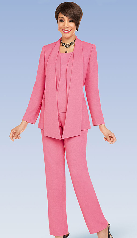 Ben Marc Executive 11719-PI ( 3pc Church And Career Pant Suit )