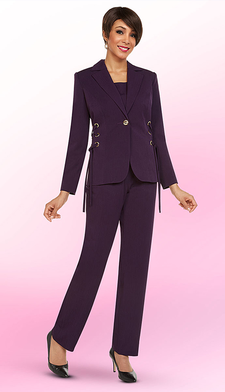 Ben Marc Executive 11718-EG ( 3pc Church And Career Pant Suit )