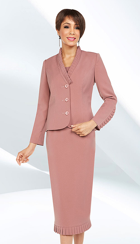 Ben Marc Executive 11641 ( 2pc Womens Church And Career Dress With Jacket And Metallic Scroll Pattern )