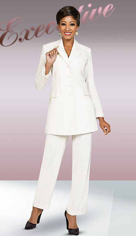Ben Marc Executive 11708-OW ( 2pc Church And Career Pant Suit )