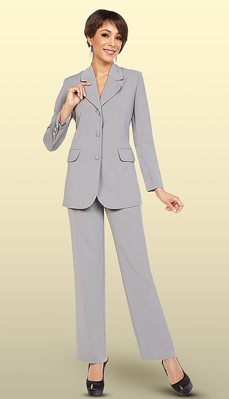 Ben Marc Executive 11701-SI ( 2pc Church And Career Pant Suit )