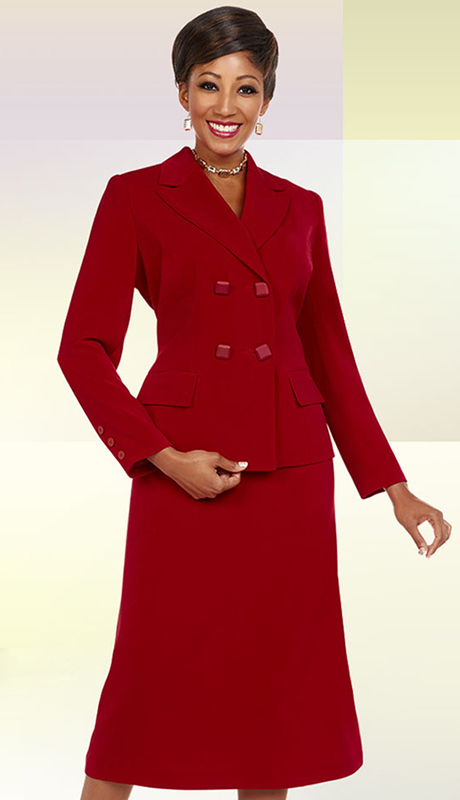 Ben Marc Executive 11684-IH-WM ( 2pc Womens Dress Suit With Asymmetric Color Block Style )