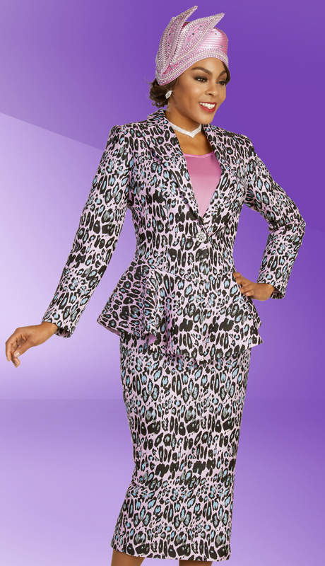 Ben Marc 48365 ( 3pc Novelty Ladies Suit For Sunday With Printed Skirt, Jacket, And Solid Cami )