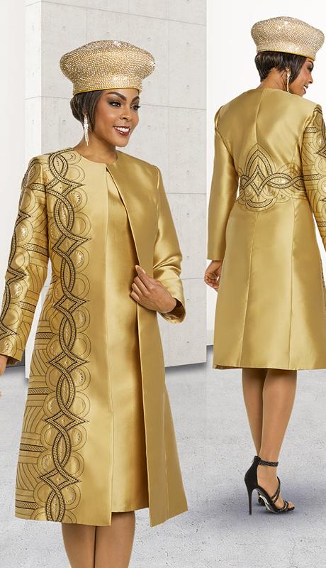 Ben Marc 48162-GB ( 2pc Silk Womens Church Dress With Long Jacket )