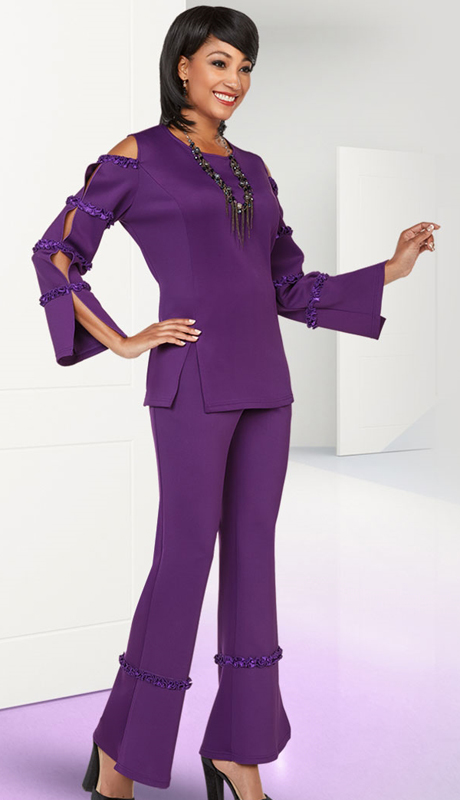 Casual Elegance By BenMarc 18383-EP  ( 2pc Womens Pant Suit )