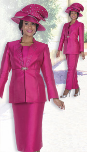 Champagne Italy 5125 ( 4pc Satin Womens Jacket, Vest, Skirt And Pant Set With Rhinestone Details )