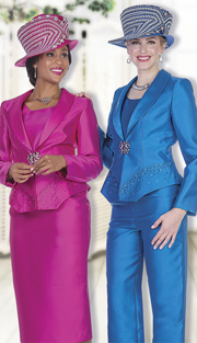 Champagne Italy 5101 ( 4pc Satin Womens Wardrobe Set With Rhinestone Embellished Jacket, Vest, Skirt And Pant )