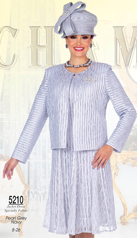 Champagne Italy 5210-PG ( 2pc Novelty Ladies Church Dress And Jacket Set  )