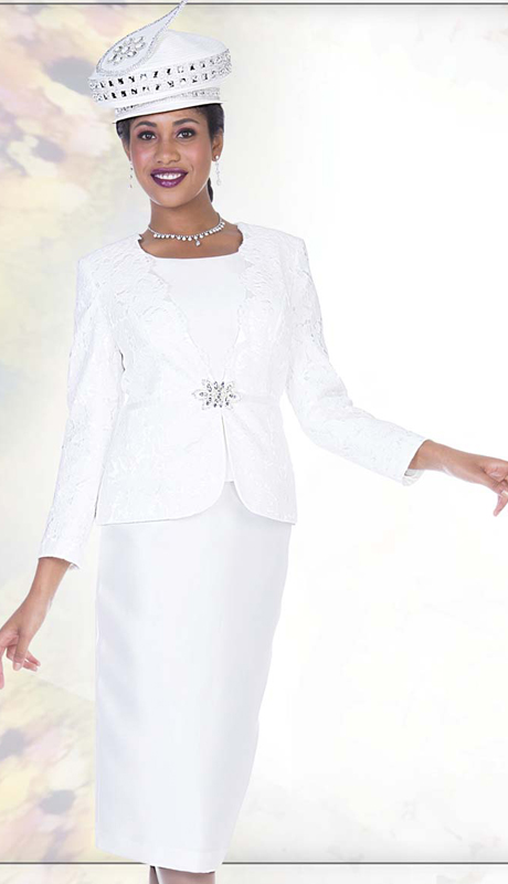 Champagne Italy 5014 ( 2pc Satin With Novelty Floral Lace Ladies Jacket Dress With Rhinestone Clasp, First lady Church Suit )