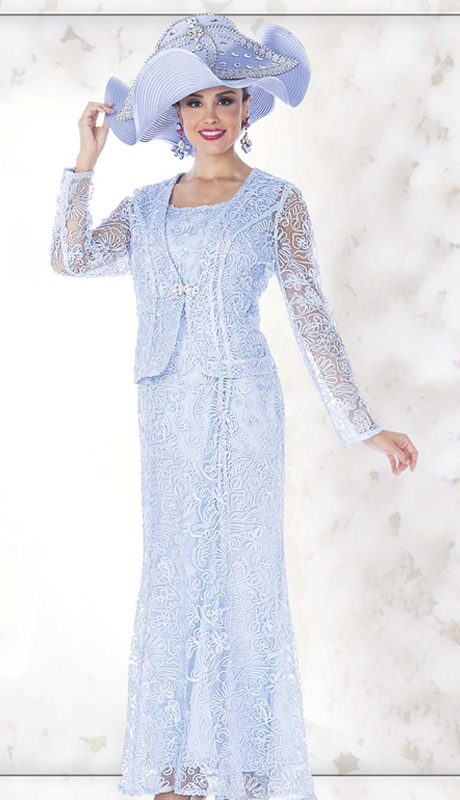 Champagne Italy 5214 ( 2pc Novelty Lace Ladies Church Dress With Jacket )