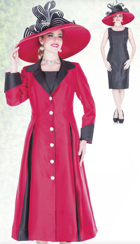 Champagne Italy 5120 ( 2pc Satin Ladies Church Long Coat Dress With Open Pleats And Rhinestone Buttons )