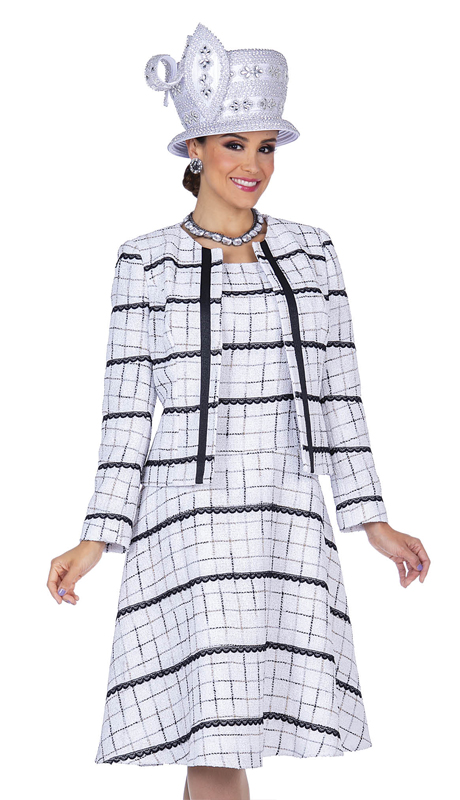 Champagne Italy 5318-OWB (  3pc Boucle Knit Church Suit )