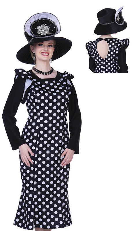 Champagne Italy 5307-BW ( 1pc Ladies Church Dress )