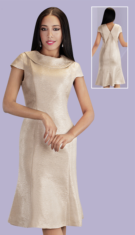 Chancelle 9531-CH ( 1pc Novelty Dress With Pointy Collar Drape At The Back )