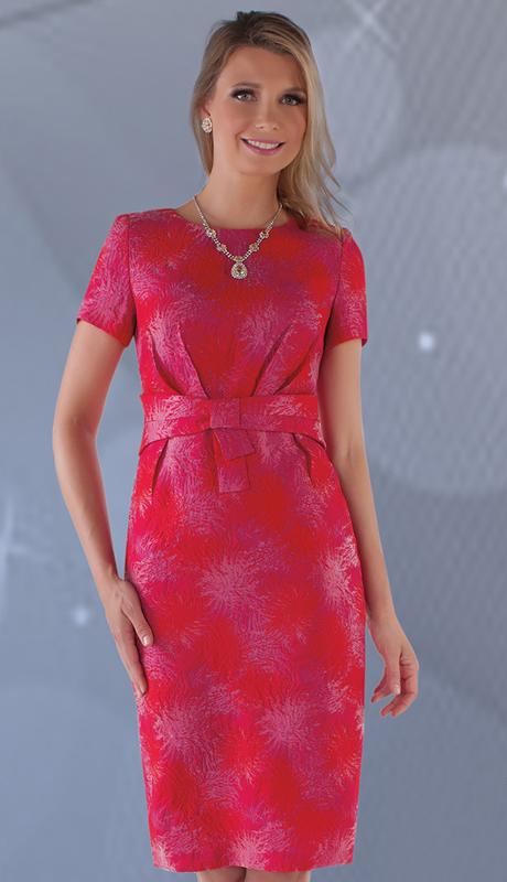 Chancelle 9623 ( 1pc Brocade Dress With Pleated Front )