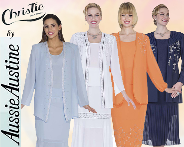 Christie Aussie Austine Ladies Georgette Church Suits Spring And Summer 2018