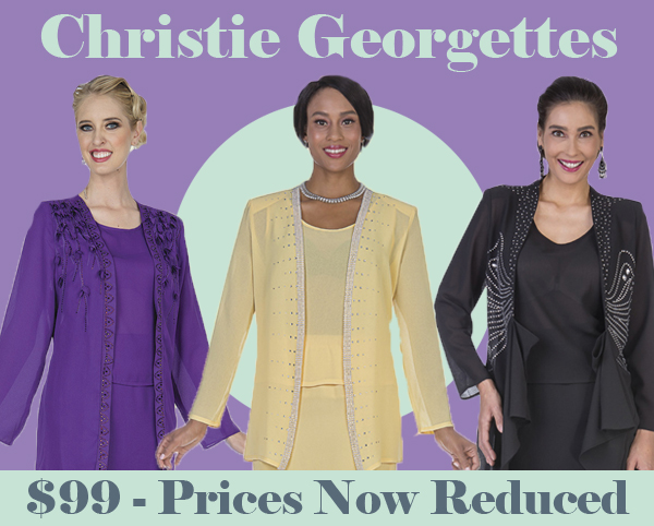 Christie Aussie Austine Ladies Georgette Church Suits Fall And Holiday 2018
