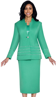 G23108-EM ( 3pc PeachSkin GMI Church And Choir Suit ) <b> ( Each Suit Includes Free Pair Of White Gloves )</b>