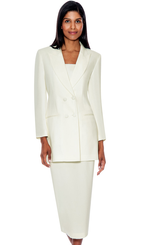 G12269-IV ( 3pc PeachSkin GMI Church And Choir Suit ) <b> ( Each Suit Includes Free Pair Of White Gloves )</b>
