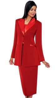 G13271-RE ( 3pc PeachSkin GMI Church And Choir Suit ) <b> ( Each Suit Includes Free Pair Of White Gloves )</b>